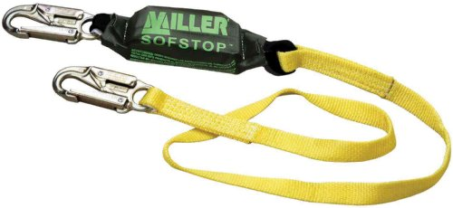 (Miller by Honeywell 913WLS/3FTYL Web Lanyard with SofStop Shock Absorber, 3-Feet, Yellow)