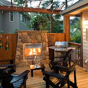 Decorate the deck! Easily create the ultimate outdoor hangout - no nails or tools needed!