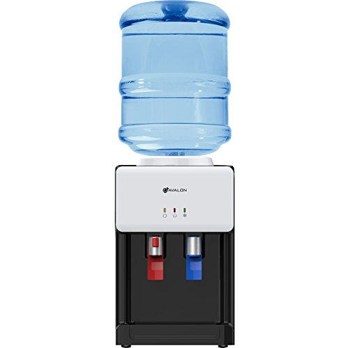 Avalon Premium Hot/Cold Top Loading Countertop Water Cooler Dispenser With Child Safety Lock. UL/Energy Star Approved- White
