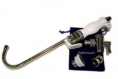 "HydraWand Handheld Bidet w/ Faucet Diverter, Ergonomic Wave-Form Handle, & ""J"" Nozzle"