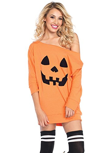 Leg Avenue Women's Jersey Pumpkin Dress, Orange, SML/MED