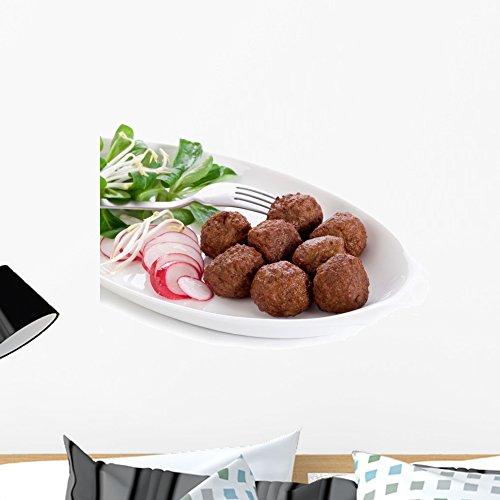 (Wallmonkeys FOT-31708656-24 WM282371 Vegetarian Meatballs with Slice Radish Peel and Stick Wall Decals (24 in W x 18 in H), Medium)