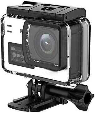 アクションカメラ ポータブル4K 60fpsのアクションカメラ、デュアルスクリーンスポーツカメラDVタマゴノキH22チップセットビッグボックス 写真やビデオを撮る (Color : Gray, Size : One size)