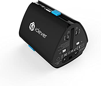 iClever SP-128 Worldwide Travel Adapter with USB Charging Port