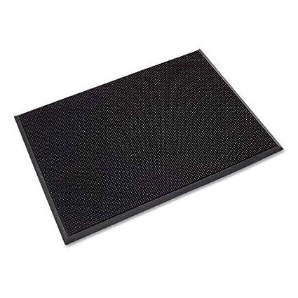 24 x 32 Durable Heavy Duty Rubber Fingertip Outdoor Entrance Mat Black