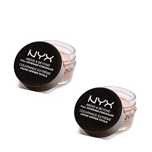 Pack of 2 NYX Above & Beyond Full Coverage Concealer, CJ02 Fair
