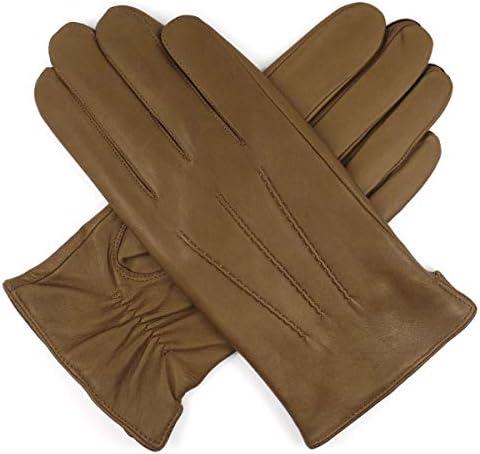 メンズ ラグジュアリー イタリア製 羊革 レザー手袋 シープスキン カシミア縫製 暖対応 運転 男性用