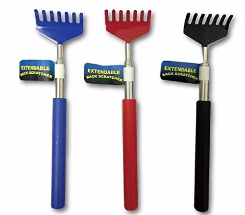 3 Pack Compact Extendable Telescopic Back Scratcher Body Massager relieves stress, stiffness and muscle soreness. Increase blood circulation, Lightweight and simple to use.