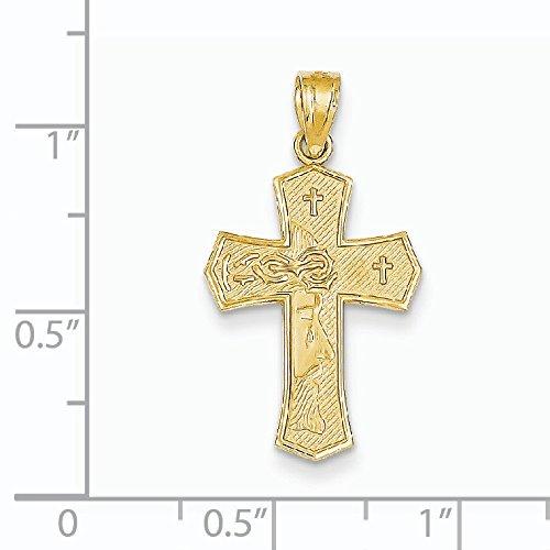 Réversible Ecce Homo 14 Carats Pendentif croix-JewelryWeb