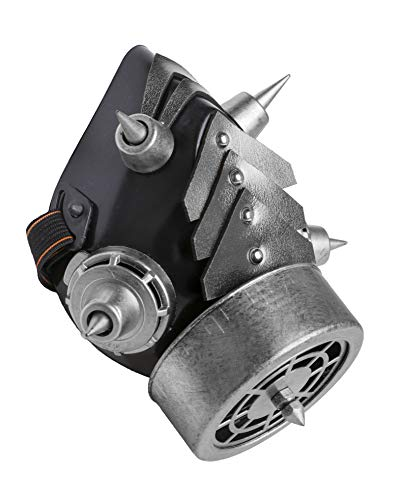 Arsimus Steampunk Gas Mask with Spikes (Silver) (Mens Gas Mask)