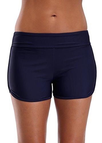 beautyin Womens Boardshorts Solid Swim Bottoms Swim Shorts Stretch Beach Short L