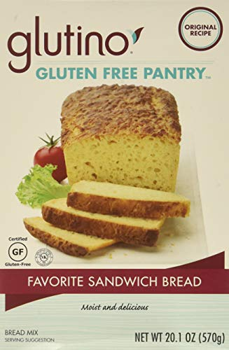 Glutino, Fav Sandwich Bread Mix, W/F, Pack of 6, Size - 20.1 OZ, Quantity - 1 Case