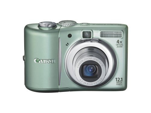 Canon PowerShot A1100IS 12.1 MP Digital Camera with 4x Optical Image Stabilized Zoom and 2.5-inch LCD (Green)