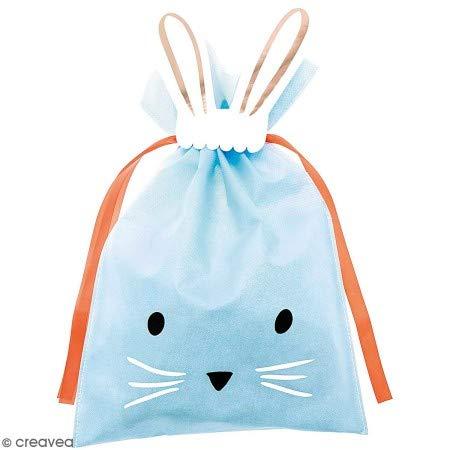 Bolsa de regalo grande de tela azul - conejo - 30 x 45 cm ...