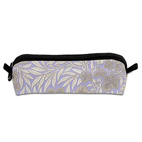 William Morris Jungle Vines Regency Students Canvas Pencil Case Pen Bag Pouch Stationary Case Makeup Cosmetic Bag 21 X 5.5 X 5 cm
