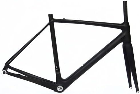 フルカーボン UD マット700c ロードバイク 自転車 BB30 フレームフォーク 56cm