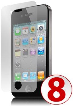 GreyMobiles pellicola proteggi schermo per Apple iPhone 4 G HD 16 GB & 32 GB (confezione da OF 8)
