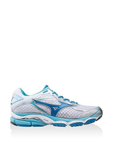 Mizuno Zapatillas de Running Wave Ultima 7 Wos Blanco / Azul / Turquesa EU 36.5 (US 6.5)