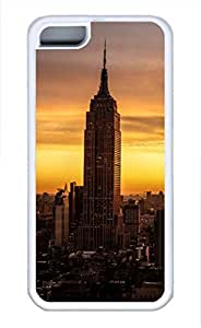 Brian114 iPhone 5C Case - City New York 6 Soft Rubber White iPhone 5C Cover, iPhone 5C Cases, Cute iPhone 5c Case