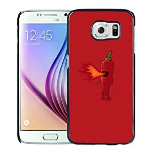 New Personalized Custom Designed For Samsung Galaxy S6 Phone Case For Cartoon Fire Pepper Phone Case Cover