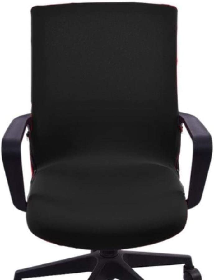 LLAAIT Siamese Office Chair Cover Silla giratoria Computer Sillón Protector Executive Task Slipcover Internet Bar Asiento Trasero, Negro, República Checa