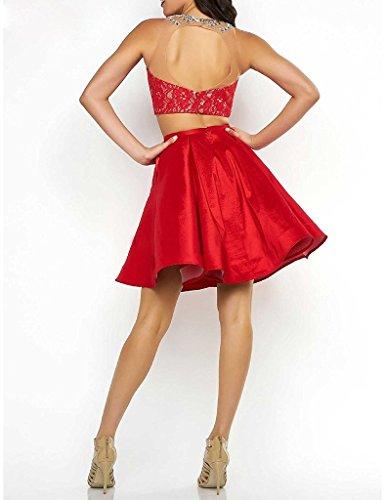 JYDress - Vestido - trapecio - para mujer rojo rosso 46