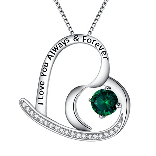 BriLove 925 Sterling Silver Heart Necklace for Women,