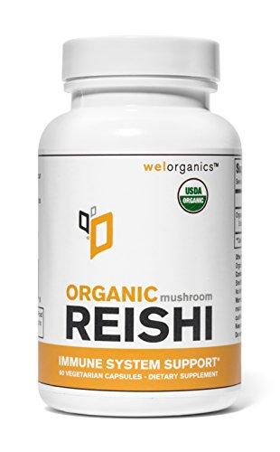 USDA Certified Organic Reishi Mushroom Extract (500mg Per Serving) (Vegetarian Capsules)