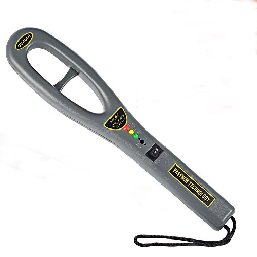 GoerTek Portable Hand Held Metal Detectors Wand, Security Sensitive Super Scanner Three-Color Indicator, Light-Weight to Carry Around 9V Battery(Included) Detecting Temperature Range -15~45 Celsius