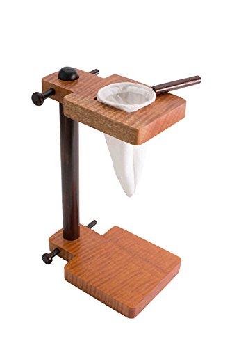 Premium Stand Drip Pour Over Coffee Maker, Traditional Wooden Chorreador Handmade in Costa Rica, 1 Reusable Cloth Filter (Colador,Bolsita) Included