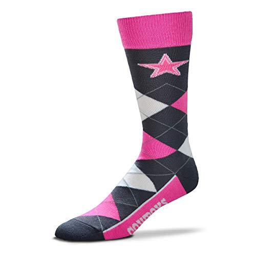 For Bare Feet NFL Argyle Lineup Melange Crew Socks - One Size Fits Most (Dallas Cowboys) ()