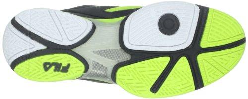 Fila Mens Sentinel Tennis Skor Svart / Svart / Neongrönt