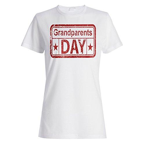 Großeltern Tag lustige Briefmarkenweinlese Damen T-shirt f311f