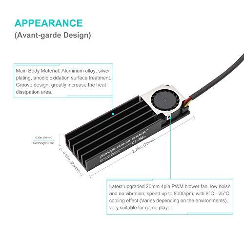 Advancing Gene NVMe M.2 SSD Cooler Heatsinks with 20mm Fan, 2nd Generation by Advancing Gene (Image #1)