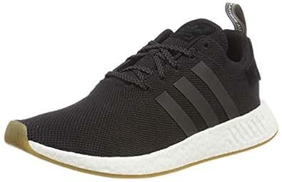Adidas ORIGINALS NMD_R2 Mens Running Trainers Sneakers (UK 9.5 US 10 EU 44, Black Gum White BY9917)