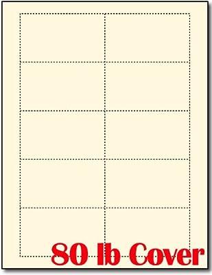Amazon heavyweight 80lb off white cream blank business cards amazon heavyweight 80lb off white cream blank business cards 100 sheets 1000 business cards laser inkjet business card stock office colourmoves