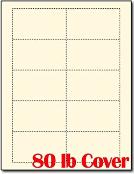 Poids Lourd 363 Kilogram Blanc Casse Creme Blank Cartes De Visite 100