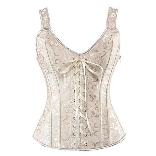 bustier gothic brocade overbust corset vest top
