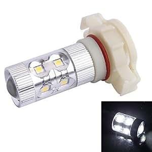 GD LED H16 SMD 650LM 60W 12xLED 6500K Luz Blanca para Coche Faros antiniebla Faro (DC12-24V)