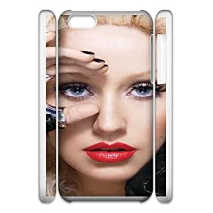 christina aguilera red lipswide iphone 5c Cell Phone Case 3D 53Go-118725