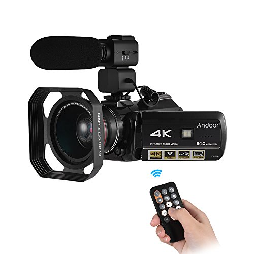 Andoer AC3 4K UHD 24MP Digital Video Camera Camcorder DV Rec