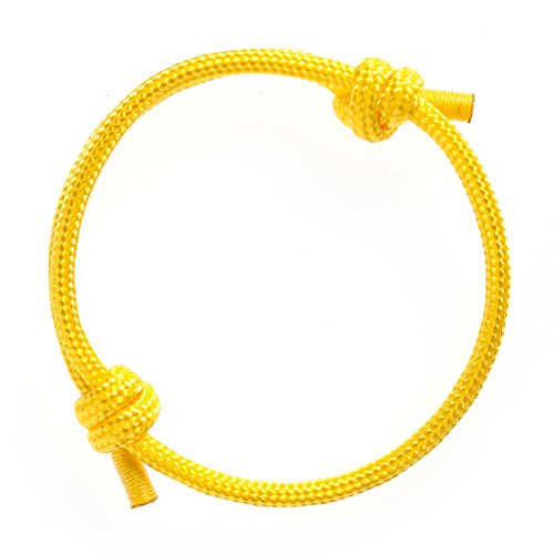 Woven Design Bracelet - Wind Passion Nautical Braided Yellow Mono Rope Cord Men Bracelet