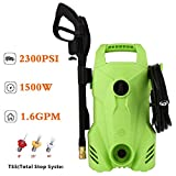 Zolko 2300 PSI 1.6 GPM Electric Power Pressure Washer Compact Professional Washer Cleaner Machine, 1400W Portable Electric Power Washer with External Detergent Dispenser,3 Nozzles