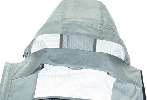 Grey Maschile Sottile Essiccazione Vento Giacca Pelle Outdoor Upf30 A Contro TqwHTfzg