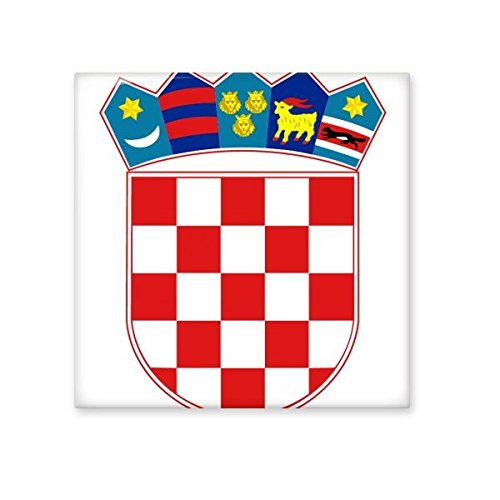 low-cost Croatia National Emblem Country Symbol Mark Pattern Ceramic Bisque Tiles for Decorating Bathroom Decor Kitchen Ceramic Tiles Wall Tiles