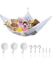 Leksakshängmatta förvaringsnät för gosedjur, utmärkt för förvaring av barnkammare, leksaker och spel för organisering och hängande organisatörer