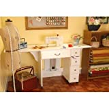 Auntie Oakley Sewing Cabinet Finish: White, Office Central