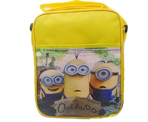 Despicable Me 3 Minion Lunch Bag School Supplies Cross Body Should Strap Canvas Orlando