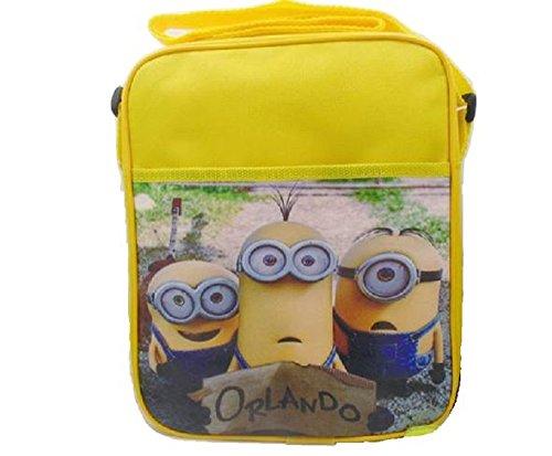 Despicable Me 3 Minion Lunch Bag School Supplies Cross Body Should Strap Canvas Orlando