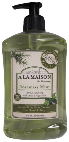 A La Maison de Provence Liquid Soap, Rosemary Mint, 16.9-Ounce Bottles (Pack of - Coffee Deruta